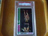 1976 topps basketball rookie dan issel psa graded 7 nm