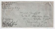 Free Franked cover - U.S. Army 1206th Engineer Fire Fighting Platoon -A.P.O. 758