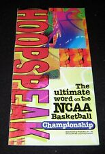 NCAA BASKETBALL TOURNAMENT 1995 ADVERTISING BOOKLET RECORDS PLAYERS PIZZA HUT