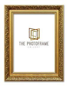 Ornate Photo Frame Shabby Traditional Dahlia Gold Picture Frame Spoon Art Frames