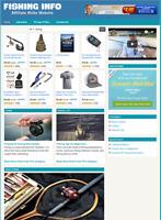 FISHING WEBSITE - Affiliate Information website For Sale - Free Installation