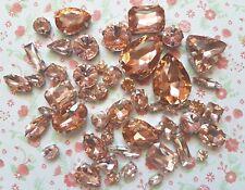 50 un. mixed cose en Melocotón Cristal Diamante Conjunto de Garra Estrás Gemas