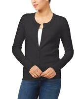 NEW Charter Club Textured Slim Fit Buttoned Cardigan Deep Black Sz M or L  S36