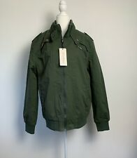 Chouyatou Mens Size XL Jacket Coat Lined Olive Army Green Full Zip NWT