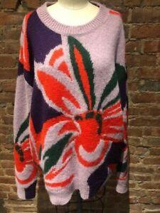 Authentic NEW  Dries Van Noten Florals Oversized Sweater Size L
