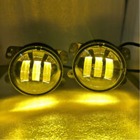 Amber Yellow 4 Inch 60W CREE LED Projector Fog Lights Lamps for Jeep Wrangler JK