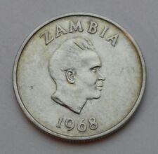 Zambia 5 Ngwee 1968. KM#11. Five Cents coin. Morning Glory. Flowers. K.D. Kaunda