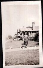 VINTAGE PHOTOGRAPH '26 FLAPPER GIRL GERMAN SHEPHERD DOG SOUTH CAROLINA OLD PHOTO