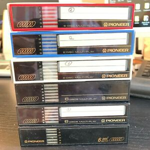 PIONEER 6 Disc CD Changer Lot of 6 Multi Play Magazine Cartridges Compact Disc