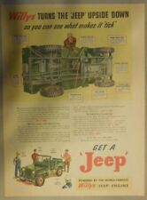 "Willy's Jeep Ad: Willy's Turns The ""Jeep"" Upside Down!  from 1946"