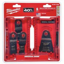 Milwaukee MULTI-TOOL BLADE SET 6Pcs Universal Shank, General Purpose *USA Made