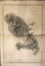 carte marine ancienne Martinique 1831