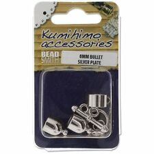 BeadSmith 6mm Silver Plated Bullet Shaped Kumihimo Findings Kit