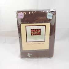 Woolrich Brown Twin Flannel Sheet Set 100% Cotton New in Package
