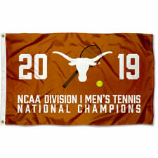 Texas Longhorns 2019 Mens Tennis National Champions Flag Large 3x5