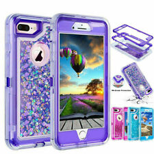 360° Liquid Glitter Bling Heavy Duty Case Cover For iPhone X XR XS Max 6s 7 8P