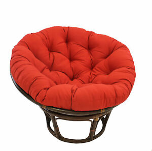 Papasan Cushion Pad Round Egg Shell Lazy Chair Padded Swing Seat Outdoor Patio