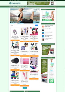 FULLY STOCKED PILATES WEBSITE WITH AFFILIATES + NEW FREE DOMAIN + HOSTING