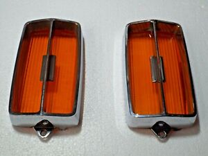 Amber Sport Lamp Lenses/Bezels 1970 71 Mercury Cyclone GT Spoiler Grill Lights