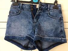 Womens New Look Petite Denim Hotpant Shorts Size 8