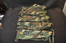 LOT OF 5 - Issued USGI NBC MOPP suit bag - Woodland Camouflage, Good Condition