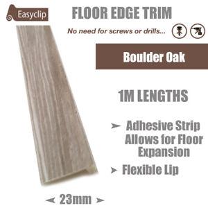 Boulder Oak 100cm Long Room Edge Trim Profile Adhesive Allows Floor Expansion