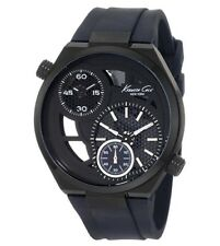 Kenneth Cole NY KC1680 Men's Black Skeleton With Black Rubber Strap Dual Watch