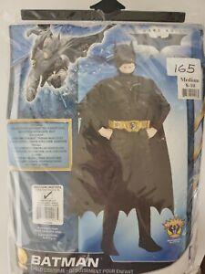 Batman Dark Knight Rises Child's Deluxe Muscle Chest Batman Costume Med 8-10