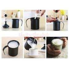 1PC Cappuccino Milk Bubble Pot Fine Mesh Hand Pump Foamer Milk Frother 400cc