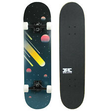 "Pro Skateboard Complete Pre-Built Space Cosmos 7.75"" Ready to Ride"