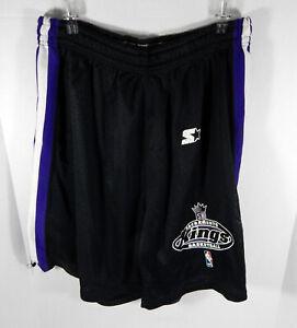 1997-98 Sacramento Kings Game Issued Black Practice Shorts XL Starter