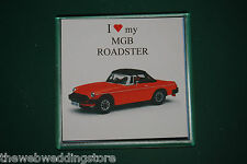 MGB Rubber Bumper model - Drink mat - Coaster - Gift - Fathers day - Retro Gift