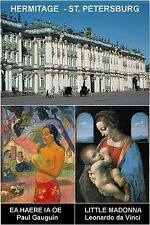MUSEUM SOUVENIR FRIDGE MAGNET - HERMITAGE ST. PETERSBURG & GAUGUIN & DA VINCI