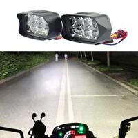 Moto 6500K Impermeabile 8 LED Doppi Fari Ausiliari Fendinebbia 12w