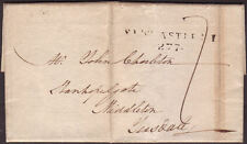 1802 LETTERSHEET TO MIDDLETON, TEESDALE WITH TOWN MILEAGE CANCELLATION