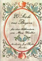 Akkordeon Noten : 20 Stücke aus Bayern  - leichte Mittelstufe