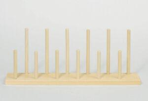 FINGERPUPPENSTÄNDER Fingerpuppen-Ständer aus Holz für 12 Puppen Kinder NEU