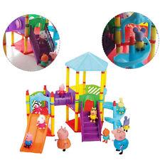 Hot Peppa Pig Big Sliding Amusement Park with 10 Friends Figures Kids Toys Gift