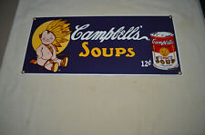 ANDE ROONEY PORCELAIN SIGN - CAMPBELL'S SOUPS BABY