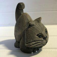 Artesania Rinconada Cat Crouching Figurine Uruguay Art Pottery Handmade