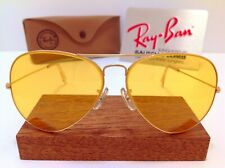 B&L RAY BAN USA AVIATOR 62mm AMBERMATIC VINTAGE SUNGLASSES GENERAL CASE