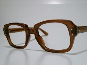 NOS Sun/ Eyeglasses Frame USGI Brown BCG's made by USS size 48-20-5 3/4 Medium