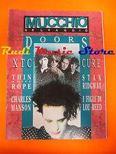 Rivista MUCCHIO SELVAGGIO 137/1989 Doors XTc Cure Charles Manson Ridgway (*)NOcd