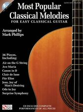 POPULAR classica MELODIE FACILE classica Chitarra imparare PLAY scheda musica Libro & Cd