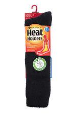 Mens WOOL 2.7 Tog Long Knee High Thermal Heat Holders Socks 6-11,39-45 eu Black