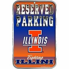 ILLINOIS FIGHTING ILLINI ~ 11x17 Wall Display Reserved Parking Sign ~ New!