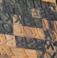 Letterpress Wood Printing Blocks 280pcs 177 Tall Alphabet Wooden Type Woodtype