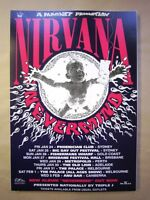 CHOOSE 4 POSTERS FROM 30+, NIRVANA, STEREOLAB , THURSDAY, RYAN ADAMS, NICK CAVE
