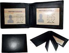 Men's Soft Leather Wallet Lot of 3 Credit Card Holder windows Billfold Wallet