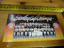 1991-92 PITTSBURGH PENGUINS IRON CITY BEER STANLEY CUP CHAMPIONS SCHEDULE